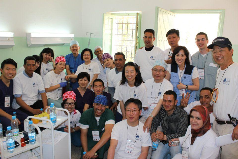 l'équipe des ophtalmologues