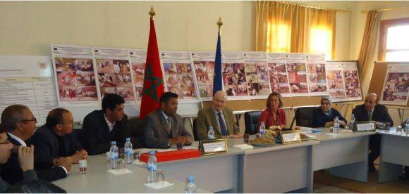 Visite de Monsieur l'Ambassadeur de l union européenne à l'association féminine pour le développement de la famille à Oued Dades et  à son partenaire, la municipalité  de Boumalne dades.